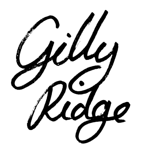 Gilly Ridge Artist Logo - an eclectic artist from Cornwall creating contemporary art for Luxury homes, hotels and offices.